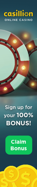 Sign up for your 100% Bonus at Casillion Casino